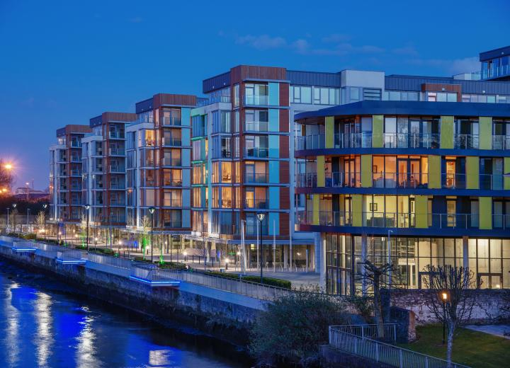 Photo of Clancy Quay at night